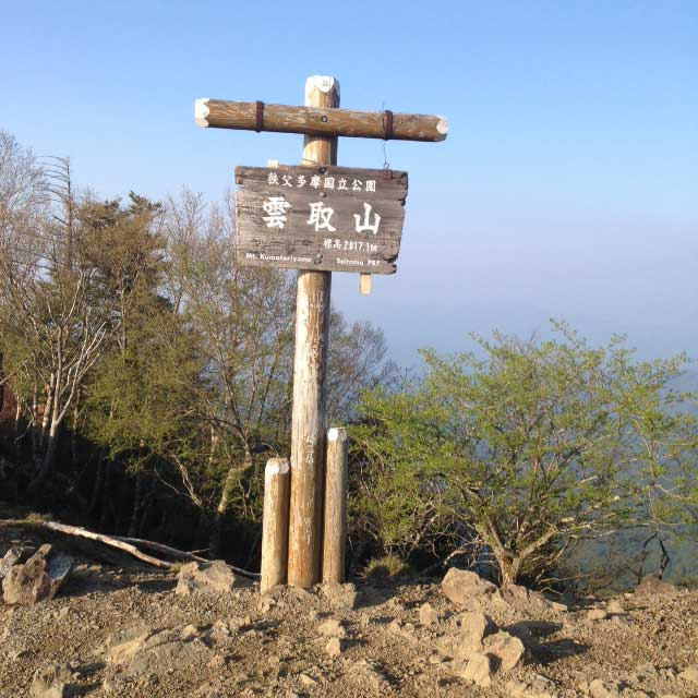 雲取山の登山写真「雲取山山頂」