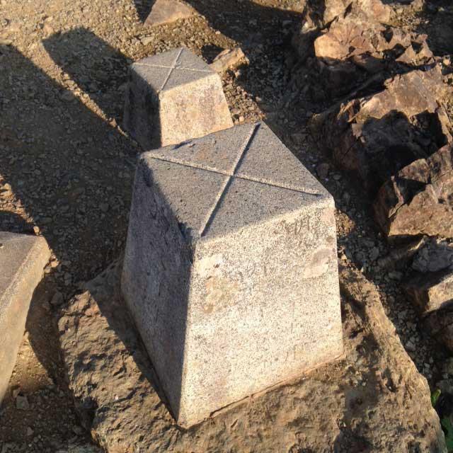 雲取山の登山写真「雲取山三角点」