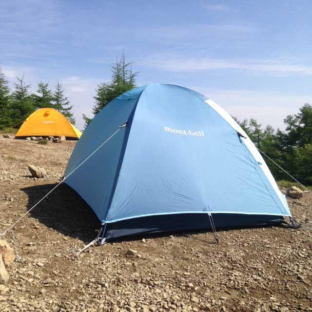 雲取山の登山写真「雲取小屋キャンプ場」