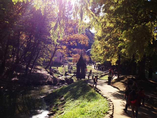 あけぼの子どもの森公園ムーミン谷公園「シルエットが綺麗」