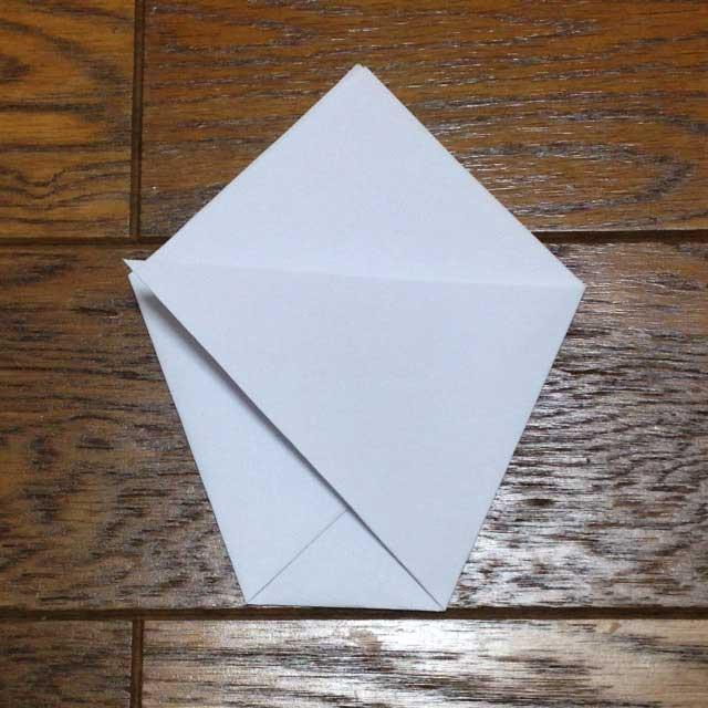 フライドポテトとイラスト「折り方4」