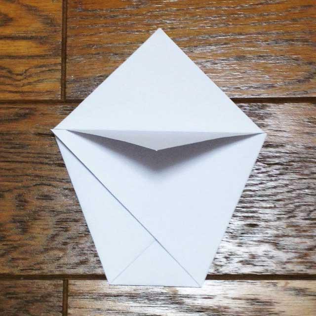 フライドポテトとイラスト「折り方5」
