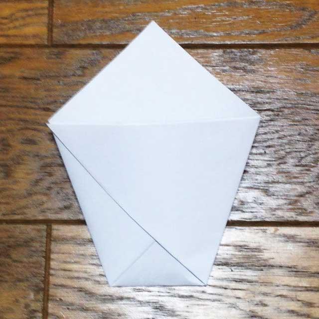 フライドポテトとイラスト「折り方6」
