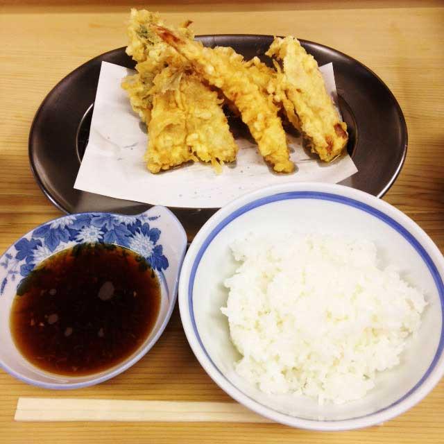 水道橋から神保町をお散歩「天ぷらいもやの天ぷら定食」