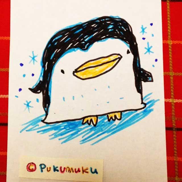 メモ帳落書きイラスト「ペンギン」