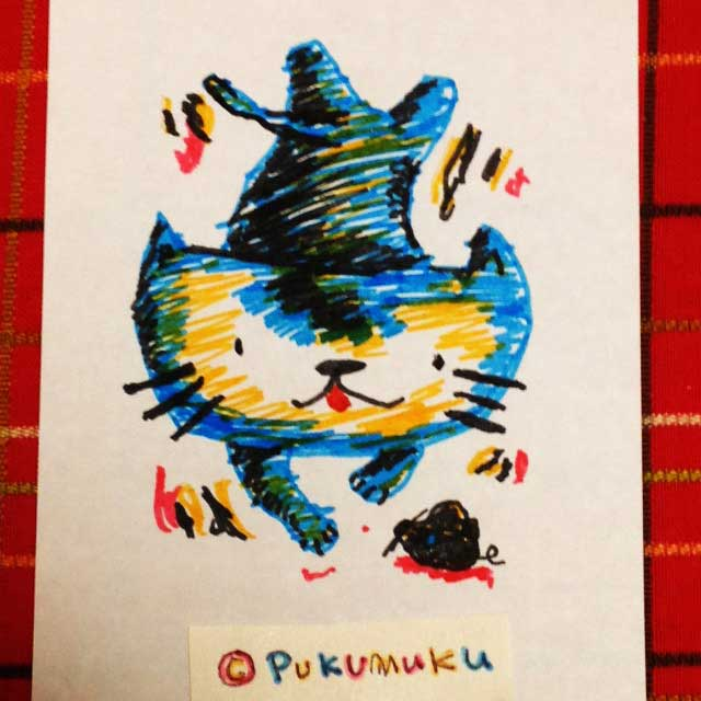 メモ帳落書きイラスト「猫」