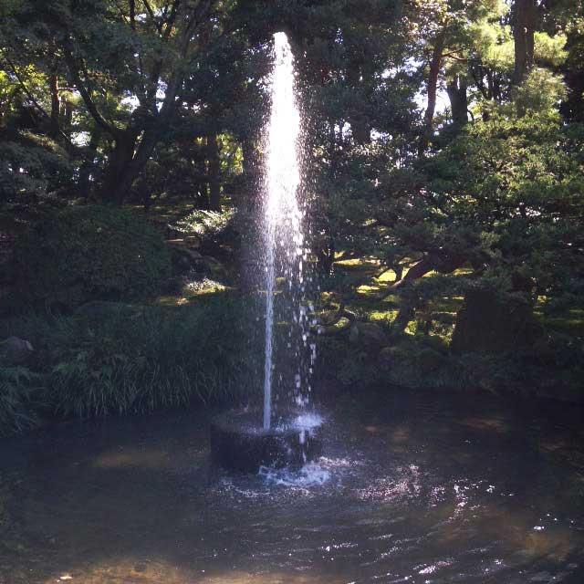 金沢・兼六園に行く「噴水」