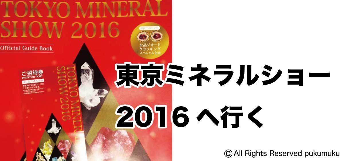 東京ミネラルショー2016へ行く