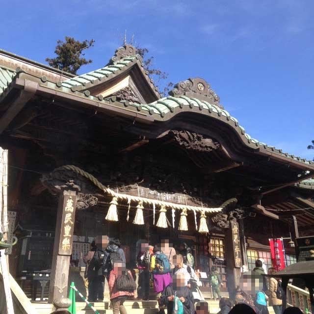 高尾山へ初詣「お参り風景」