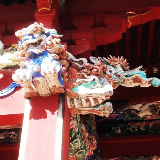 高尾山へ初詣「装飾」