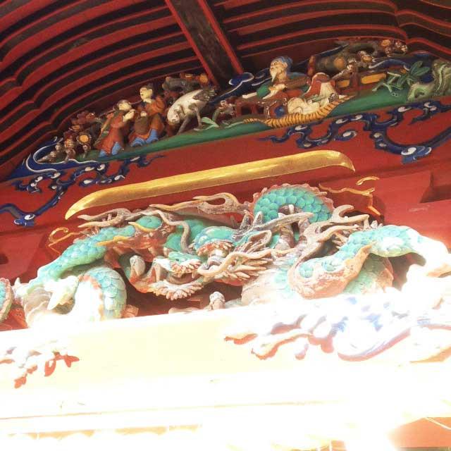 高尾山へ初詣「龍の装飾」