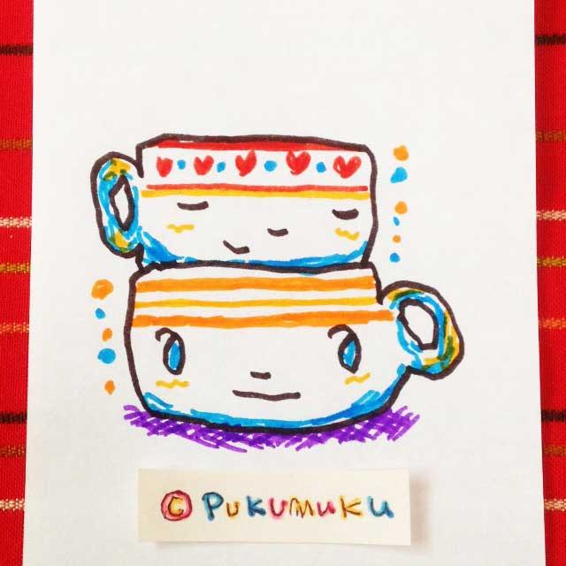 メモ帳落書きイラスト「マグカップ」