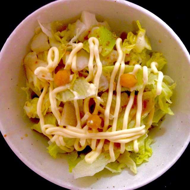 かおごはん「レタスサラダ」