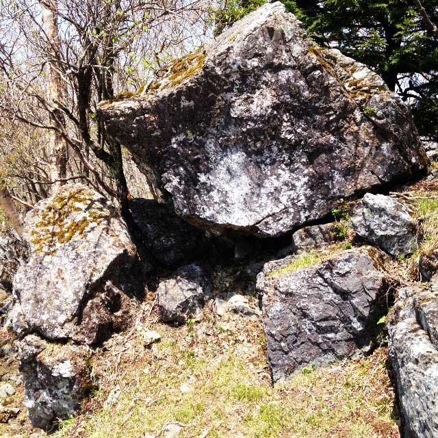 2017mの雲取山へ登る1「石」
