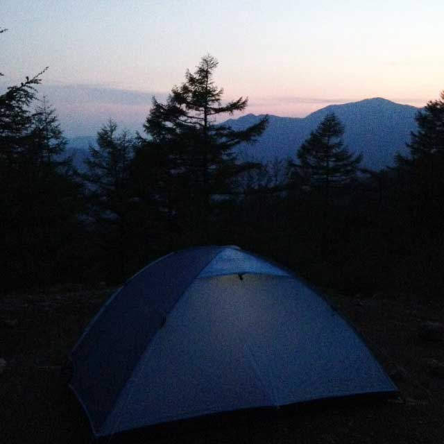 2017mの雲取山へ登る1「夜」