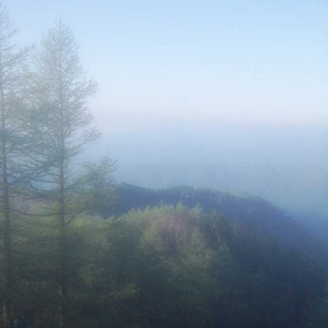 2017mの雲取山へ登る2「朝もや」