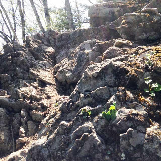 2017mの雲取山へ登る2「岩場」