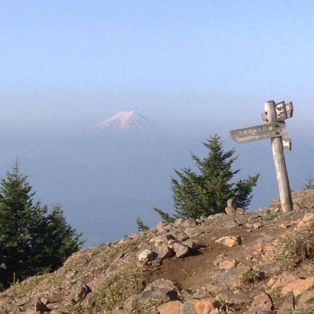 2017mの雲取山へ登る2「富士山」