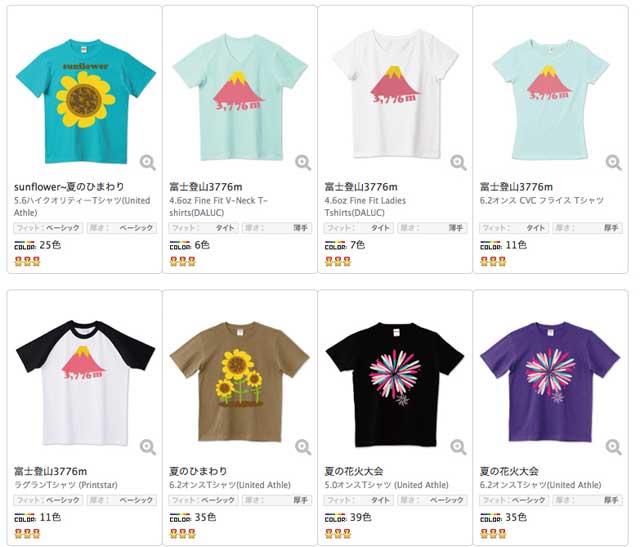夏のTシャツ制作「Tシャツ画像」