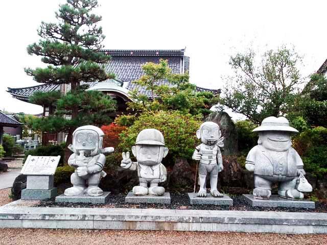 氷見(藤子不二雄Aアートコレクション)へ行く「光禅寺キャラクター達」