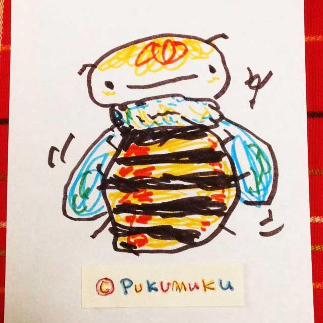 メモ帳落書きイラスト「ハチ」