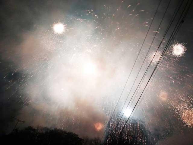秩父夜祭へ行く「花火」