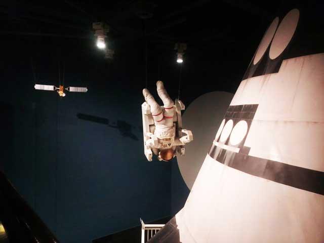 多摩六都科学館へ資料探し「宇宙飛行士」