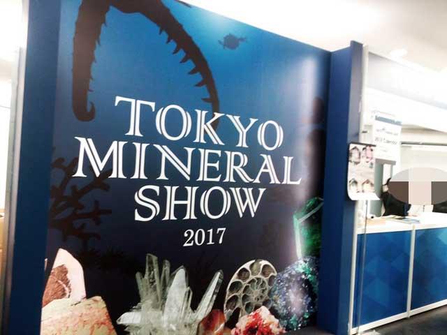 東京ミネラルショー2017へ行く「受付」