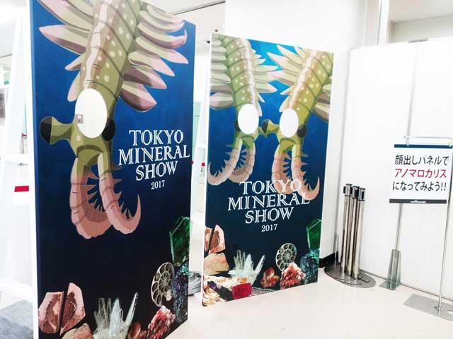 東京ミネラルショー2017へ行く「顔出しパネル」