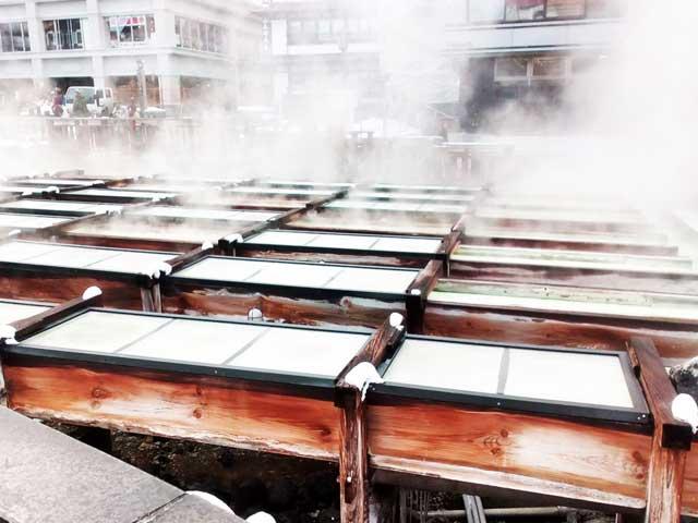 草津温泉へ行く2018「湯の花」
