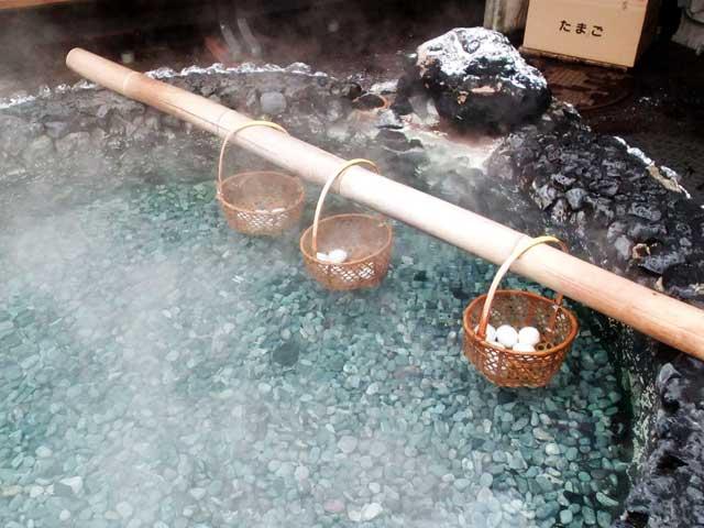 草津温泉へ行く2018「温泉卵」