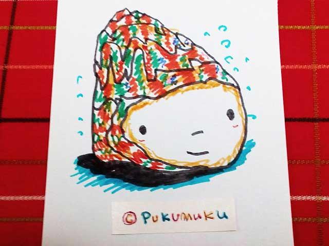 メモ帳落書きイラスト「きれいな巻貝」