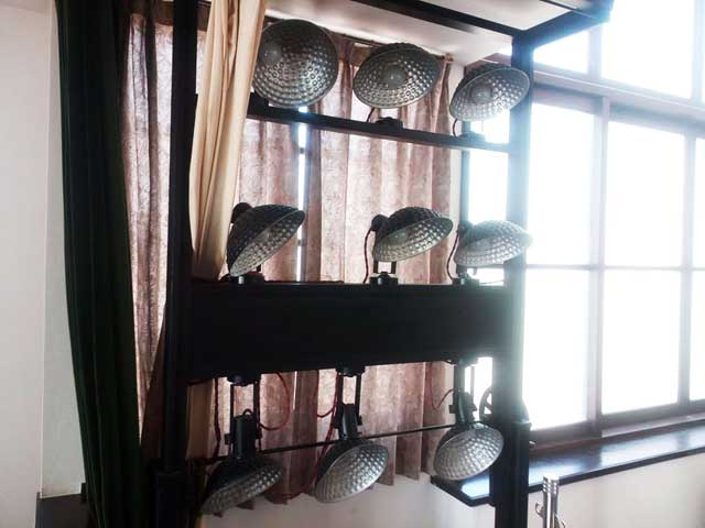 江戸東京たてもの園へ行く2018「写真館のライト」