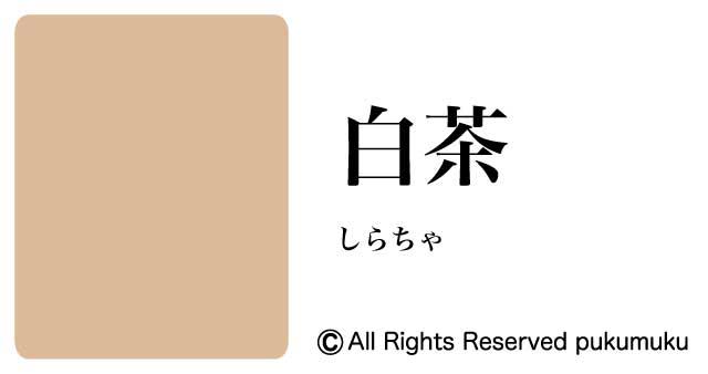 日本の色・黄・茶系の色「白茶」