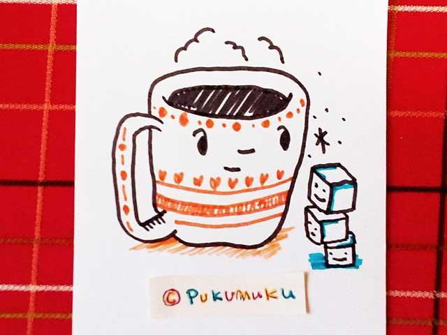 メモ帳落書きイラスト「コーヒーとおさとう」