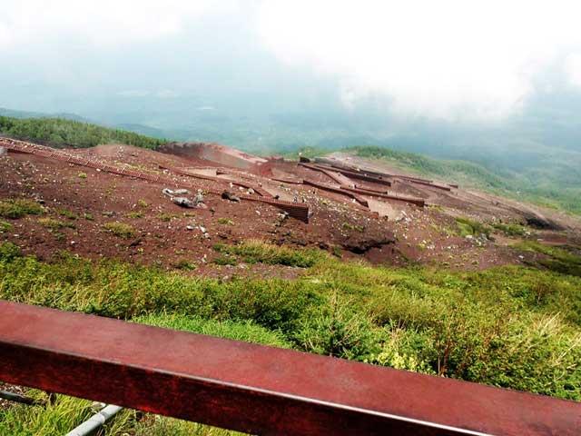 富士山に登る1「登山道」