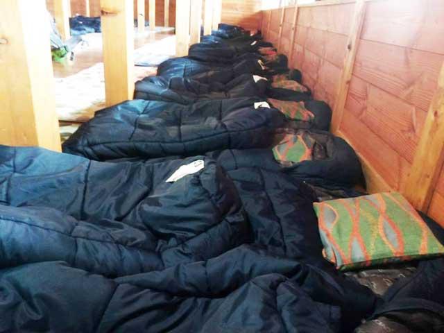 富士山に登る1「寝袋」