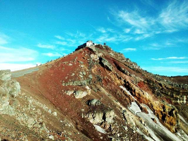 富士山に登る3「馬の背」