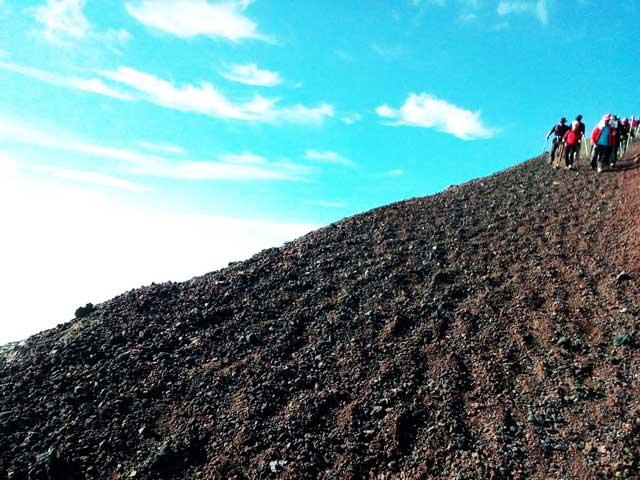 富士山に登る3「下山道」