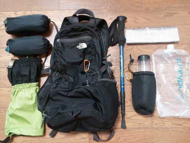 富士登山の持ち物「装備」
