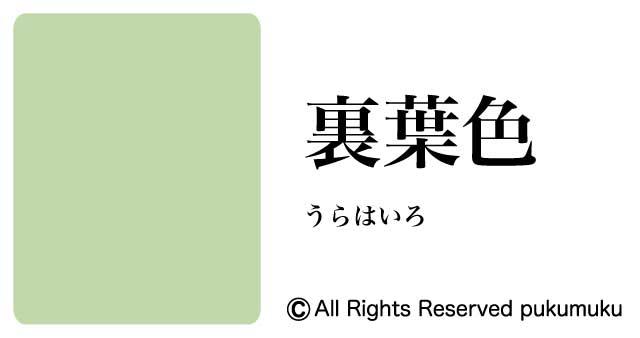 日本の色・緑系の色「裏葉色」