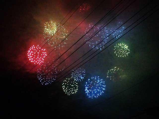 秩父夜祭2018へ行く「花火」