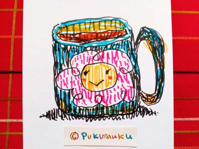 メモ帳落書きイラスト「はなコーヒー」
