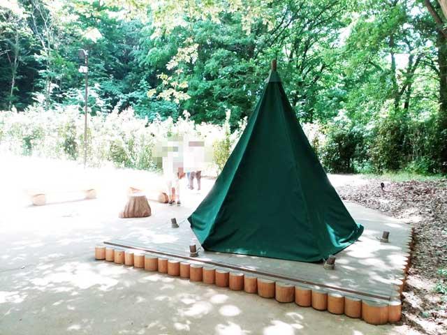 ムーミンバレーパークへ行く「スナフキンのテント」