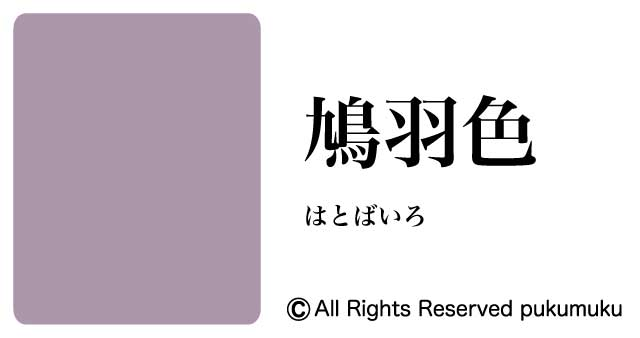 日本の色・紫系の色「鳩羽色」