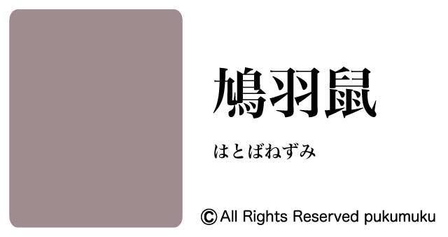 日本の色・灰色系の色「鳩羽鼠」
